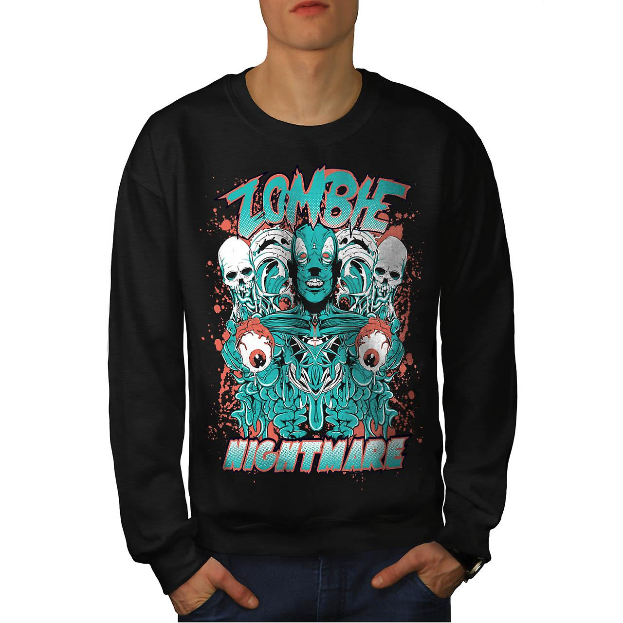 Dead Zombie Nightmare Evil Gang Men Black Sweatshirt | Wellcoda