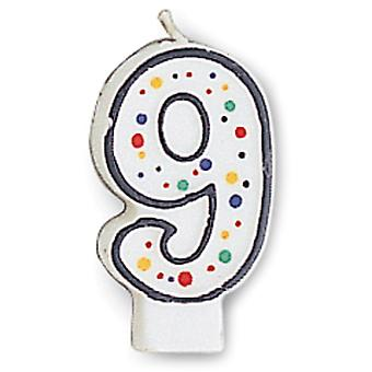 Polka Dot Numeral Candle 3