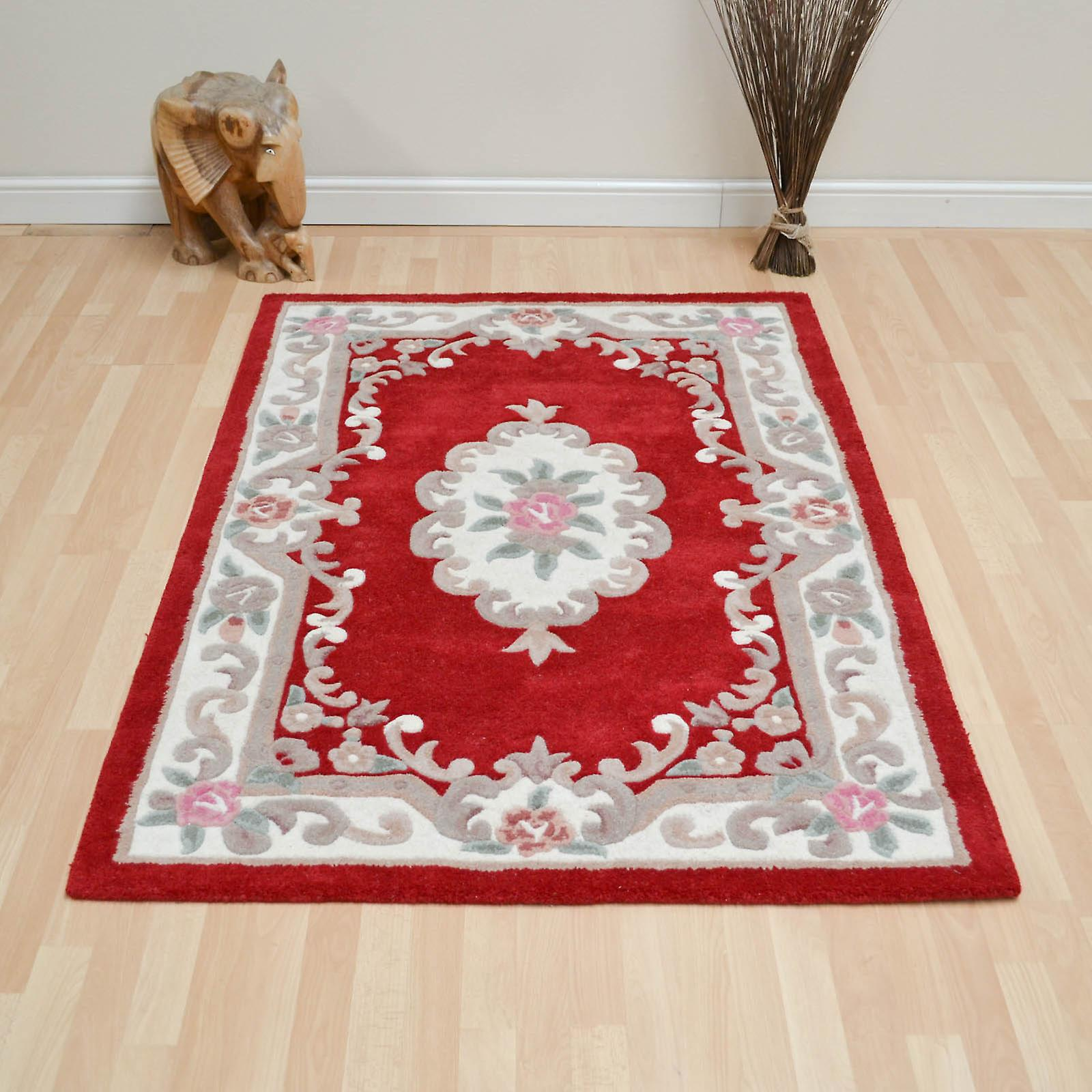 Chinese Rugs - 510 Aubusson Full Cut In Red