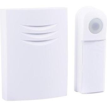 Wireless door bell Complete set backlit, with nameplate Byron B401E