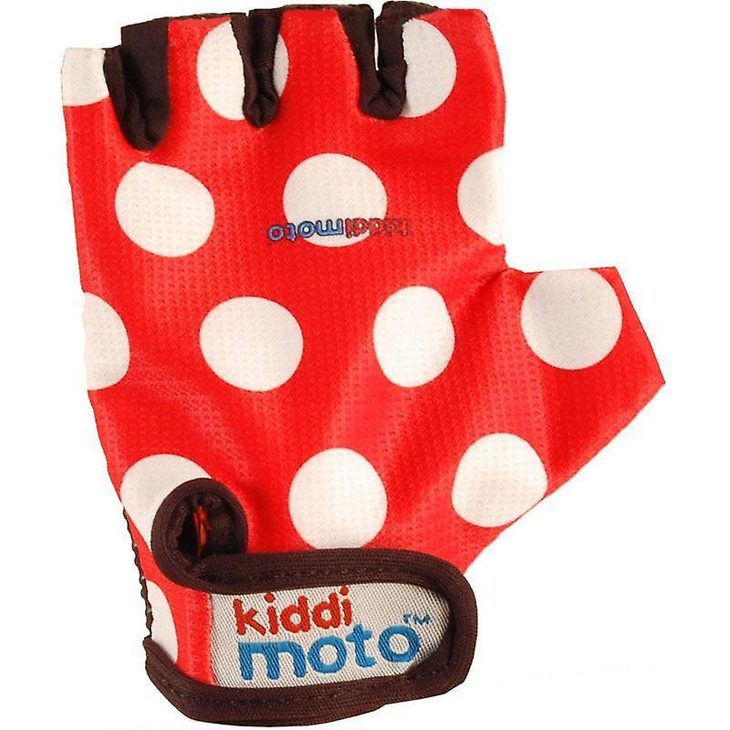 Kiddimoto Cycling Gloves Red Dotty