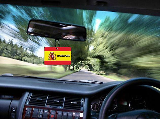 Spain Flag Personalised Car Air Freshener