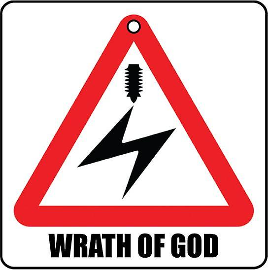 Wrath Of God Car Air Freshener