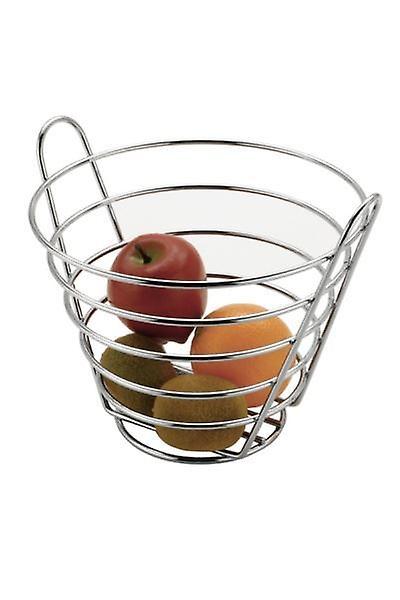 Chrome Metal Bucket Shaped Upright Fruit Basket