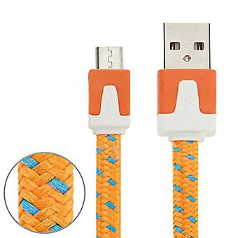 2m USB data and charging cable Orange for all Smartphone and Tablet micro USB