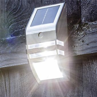 Hyfive Security Solar Motion LED Sensor Light Stainless Steel Wall Mounted