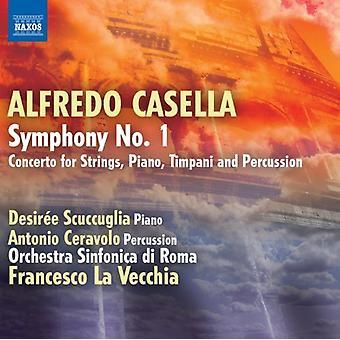 A. Casella - Alfredo Casella: Symphony No. 1; Concerto for Strings, Piano, Timpani & Percussion [CD] USA import