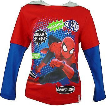 Boys Marvel Spiderman Hooded - Long Sleeve Top