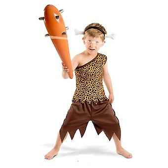 Stone age primitive man costume kids 3 piece Caveman kids costume