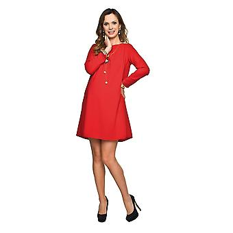 Maternity Shift Dress - Red