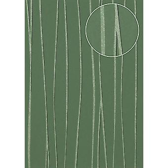 Stripes Atlas COL-570-1 non-woven wallpaper smooth design shimmering green pine trees reseda Green 5.33 m2