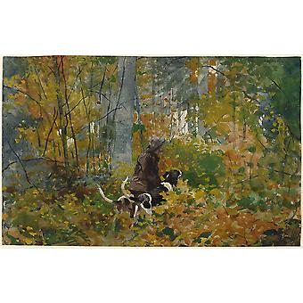 Winslow Homer - On the Trail Poster Print Giclee