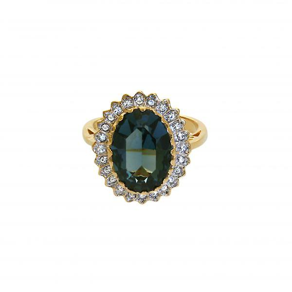 W.A.T Sapphire Cluster Ring In The Style Of Kate Middleton