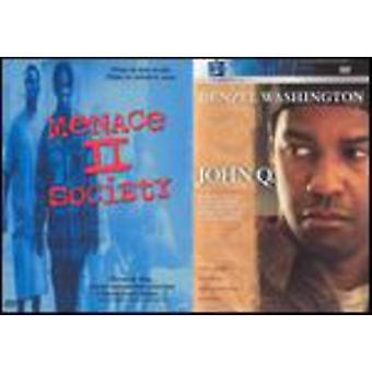 Menace 2 samfund/John Q [DVD] USA importerer