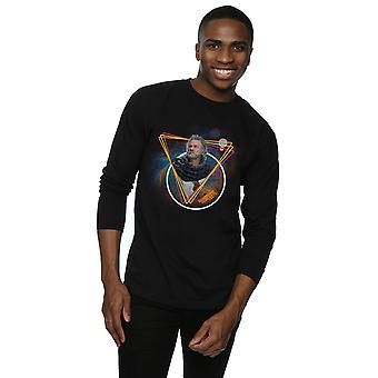 Marvel Men's Guardians Of The Galaxy Neon Ego Long Sleeved T-Shirt