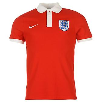 2016-2017 Angleterre Nike Core Polo Shirt (Red)