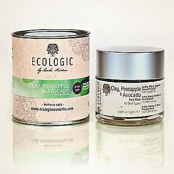 Ecologic Cosmetics Mud Mask, Pineapple and Avocado For all skin types