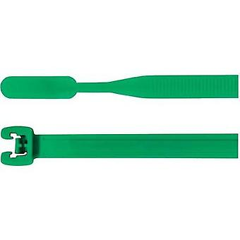 Cable tie 160 mm Green Open end HellermannTyton 10