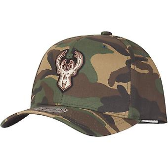 Mitchell & Ness Flexfit Snapback Cap Milwaukee Bucks camo