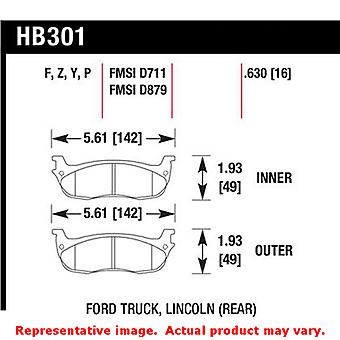 Hawk Truck/SUV Brake Pads HB301Y.630 Fits:FORD 1997 - 2002 EXPEDITION  Position