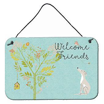 Welcome Friends Italian Greyhound Wall or Door Hanging Prints