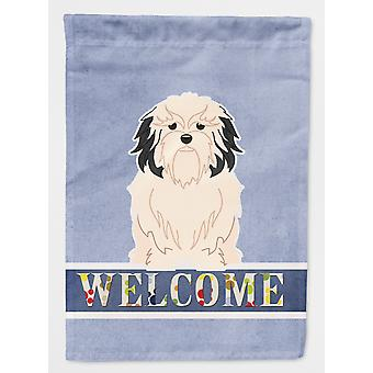 Carolines Treasures  BB5600CHF Lowchen Welcome Flag Canvas House Size