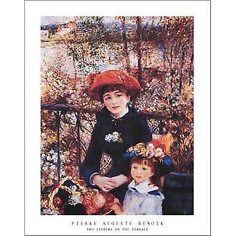 Deux soeurs sur la terrasse c1881 Poster Print par Pierre-Auguste Renoir (22 x 28)