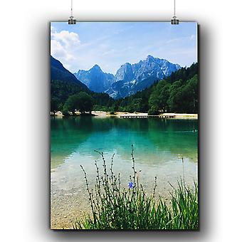 Matte or Glossy Poster with Mountain Scenery | Wellcoda | *q257