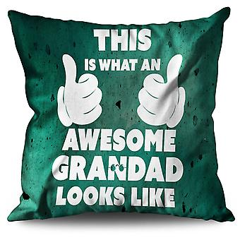 Awesome Grandad Funny Linen Cushion Awesome Grandad Funny | Wellcoda