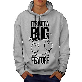 Not A Bug Geek Men GreyHoodie | Wellcoda