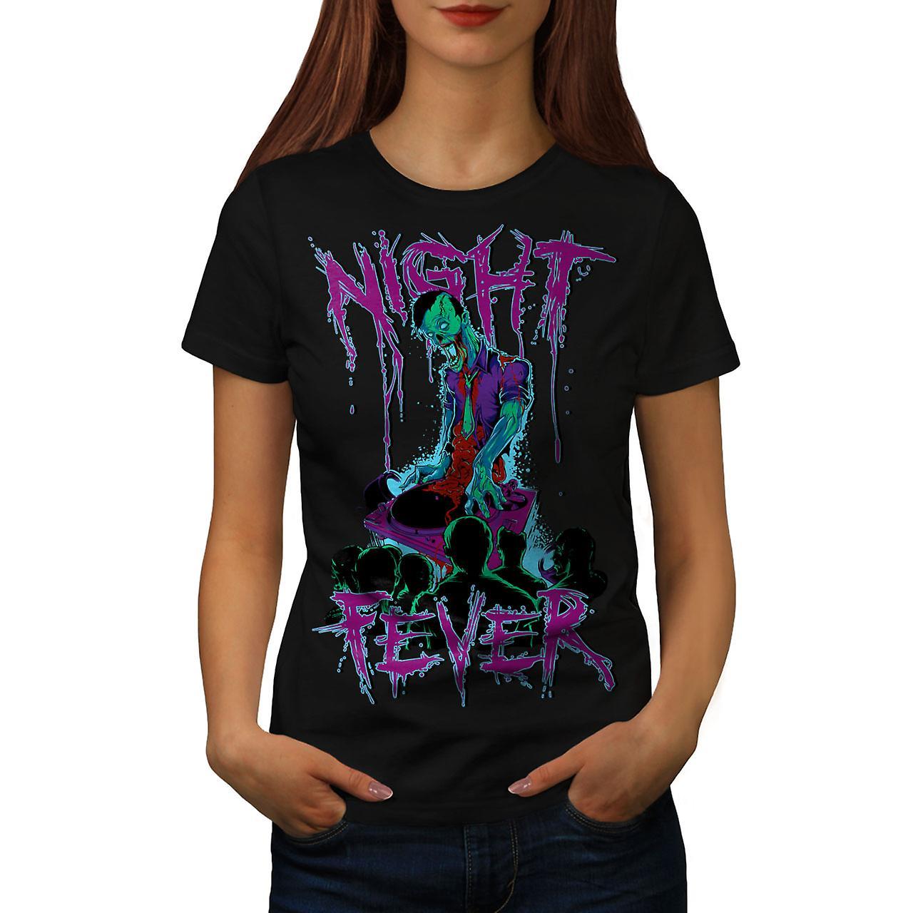 Night Fever Dead Zombie Women Black T-shirt | Wellcoda