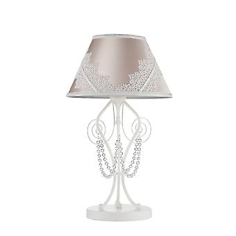 Maytoni Lighting Lucy Elegant Collection Table Lamp, White Glossy