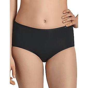 Comfort cotone nero pieno Panty Highwaist Brief Anita 1318-001 femminile