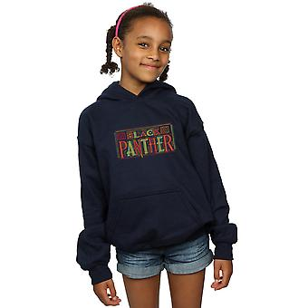 Marvel Girls Black Panther Tribal Logo Hoodie