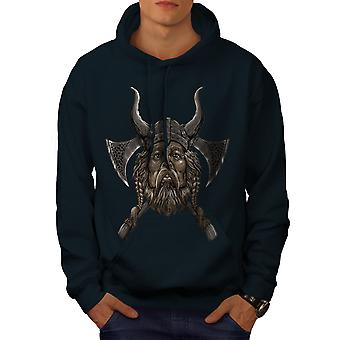 Northern Helmet Axe Men NavyHoodie | Wellcoda