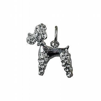 Silver 18x15mm Poodle Pendant or Charm