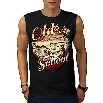 Old School Vehicle Men BlackSleeveless T-shirt | Wellcoda