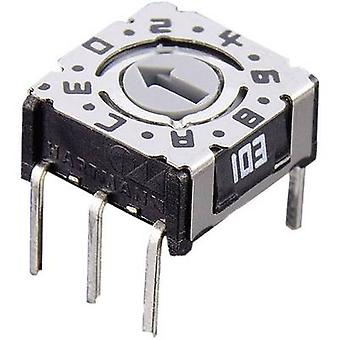 Hartmann P36 103 Rotary Coding Switch - Compact Design Setting slot/straight ≤ 0.1 A
