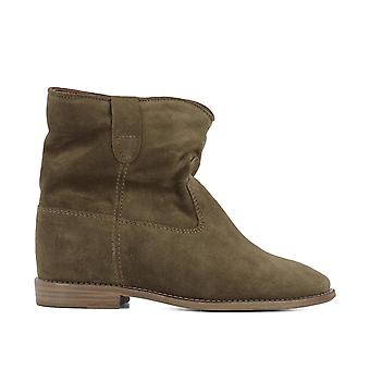 Isabel Marant women's B0010300M103S50BW brown suede ankle boots