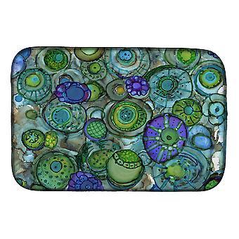 Carolines tesori 8962DDM Abstract in Blues e verdi piatto essiccazione Mat