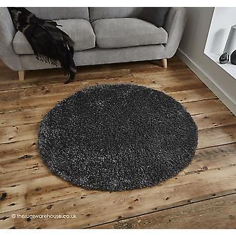 Vista mörka grå cirkel matta