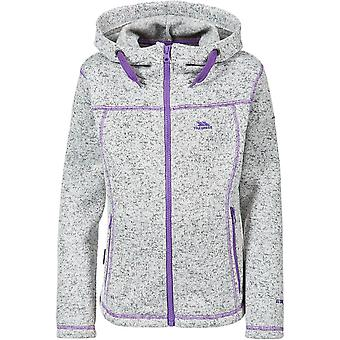 Trespass Girls Lovell Knitted Polyester Full Zip Stitch Detail Fleece