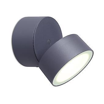 LuTec trompeta 11W luz de pared LED individual Exterior en grafito