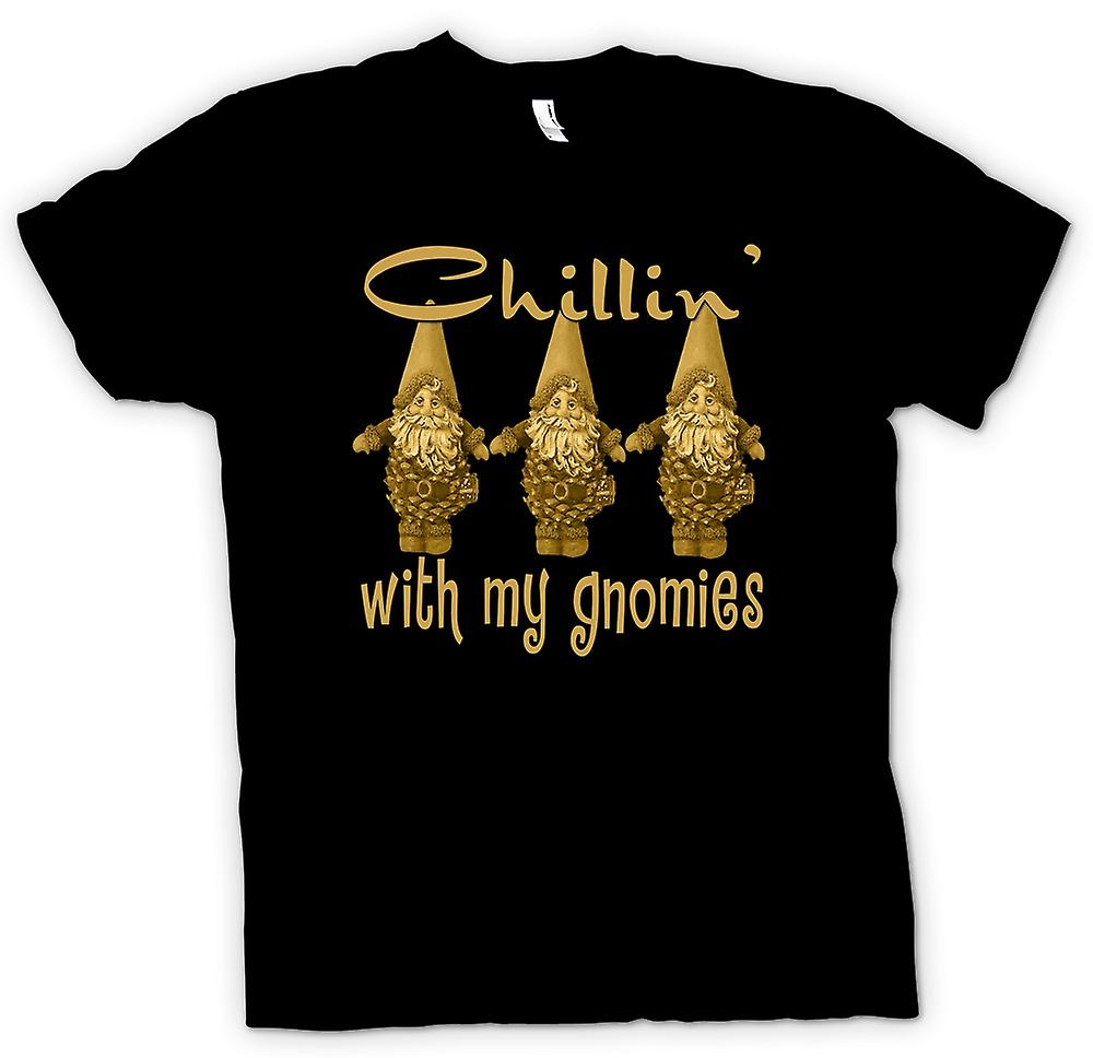 Mens t-shirt - Chillin con Gnomies - Funny