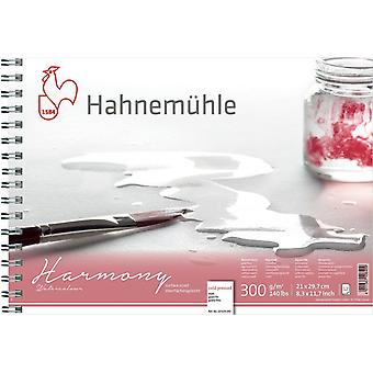Hahnemuhle Harmony Watercolour Spiral Pad COLD PRESSED A4 21 x 29.7cm