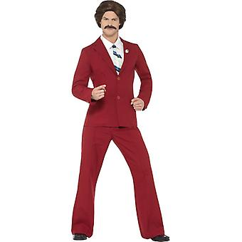 Anchorman costume Ron reporter original men