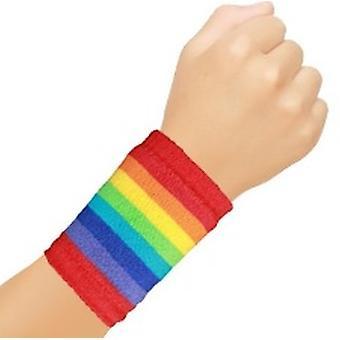Regenbogen-Schweißbänder