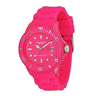 Candy time by Madison N.Y.. watch unisex U4503-48-1 pink