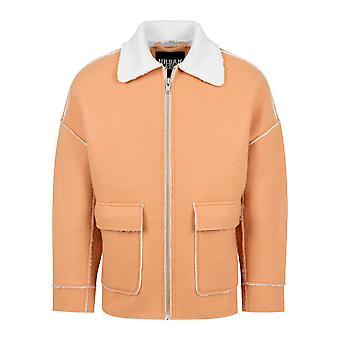 Urban classics jacket bonded oversized Sherpa