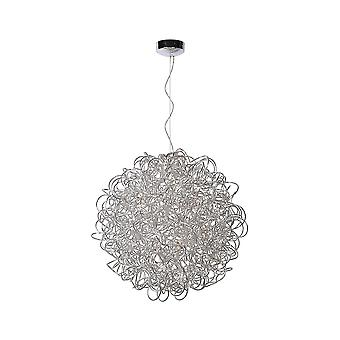 Lucide GALILEO Ceiling Pendant D80cm With Chrome Finish